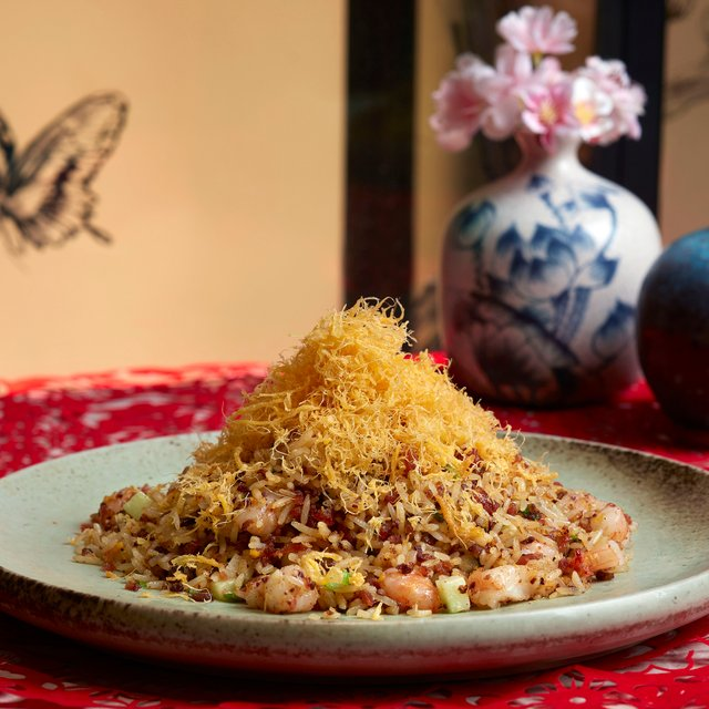 腊味金沙炒饭  Chef Jereme's Signature Golden Fried Rice with Chinese Cured Ham